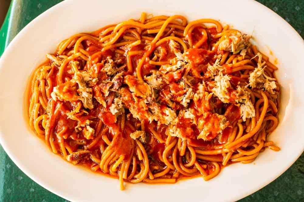 BBQ Spaghetti at Memphis Restaurant