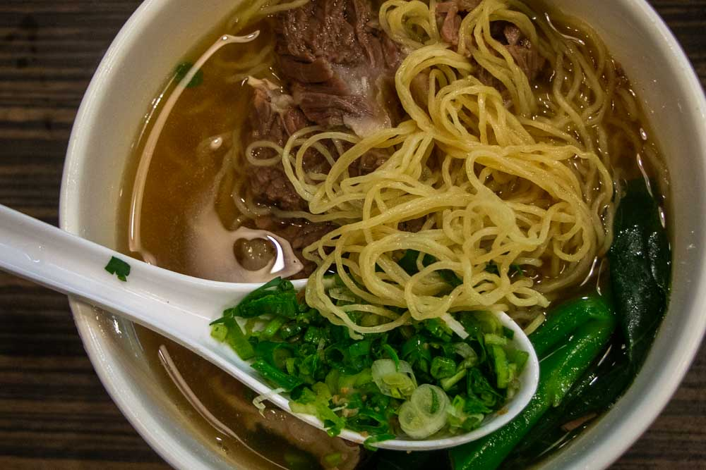 Bamboo Pole Noodles at Hong Kong Restaurant
