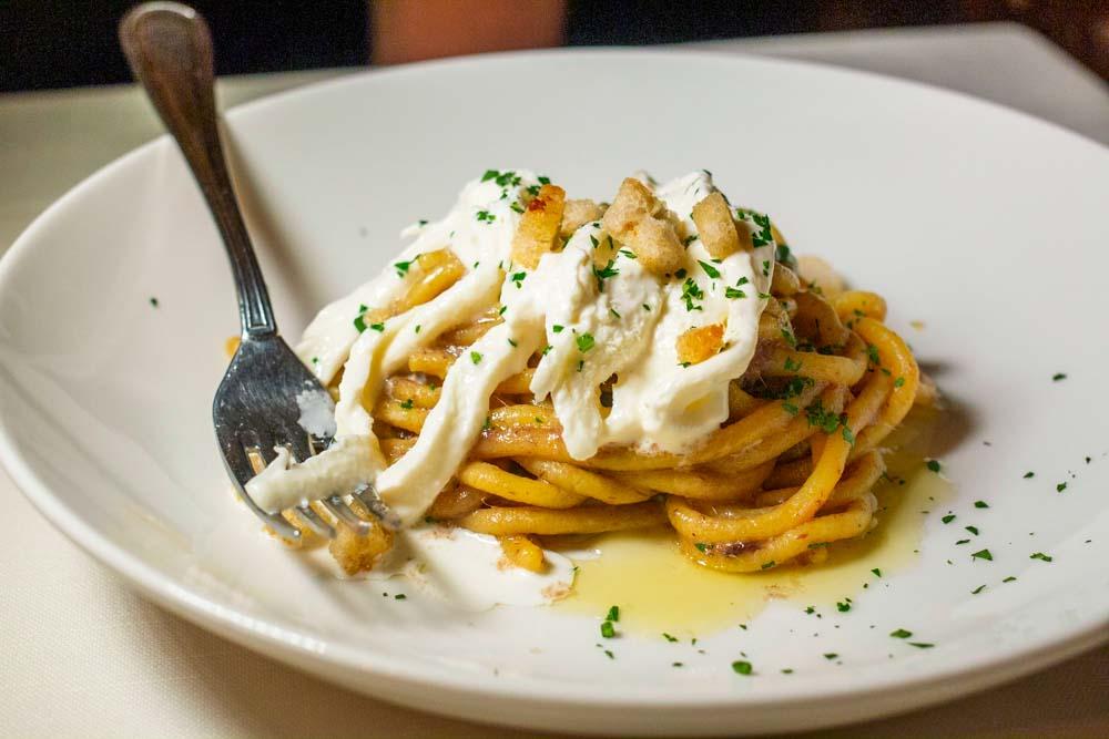 Bigoli Pasta at Verona Restaurant