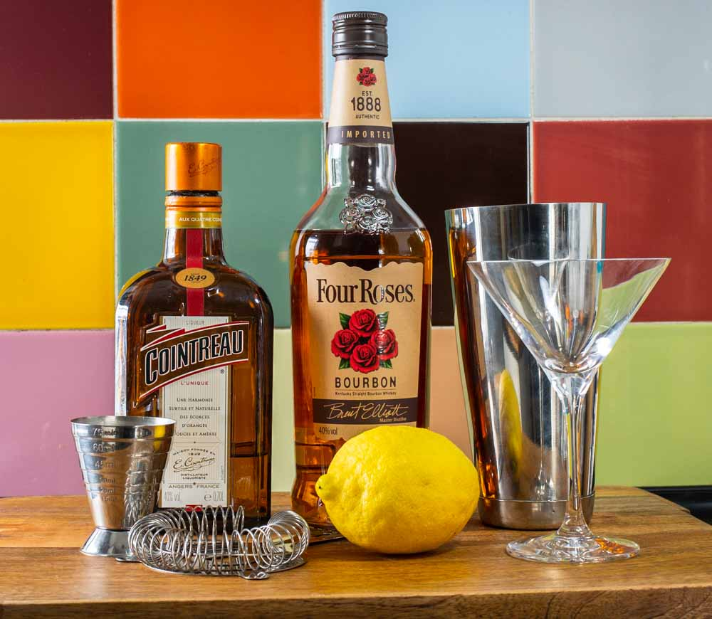 Bourbon Sidecar Ingredients by Tiles
