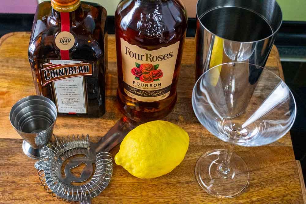 Bourbon Sidecar Mis en Place