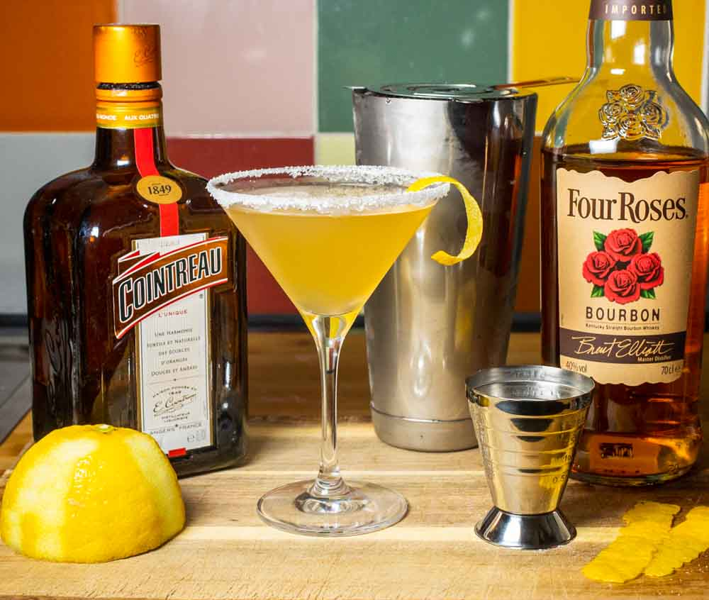 Bourbon Sidecar Cocktail