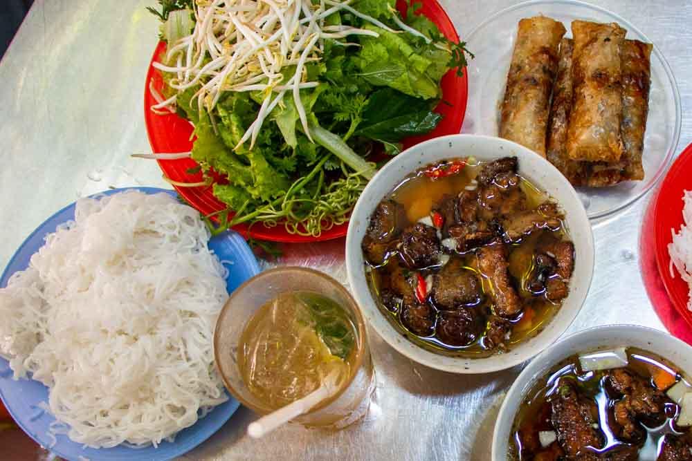 Bun Cha at Hanoi Restaurant