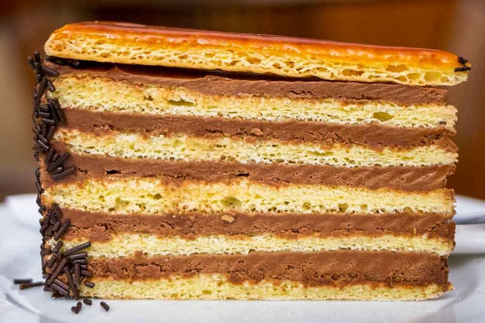 Dobos Torte at Ruszwurm Cukraszda in Budapest