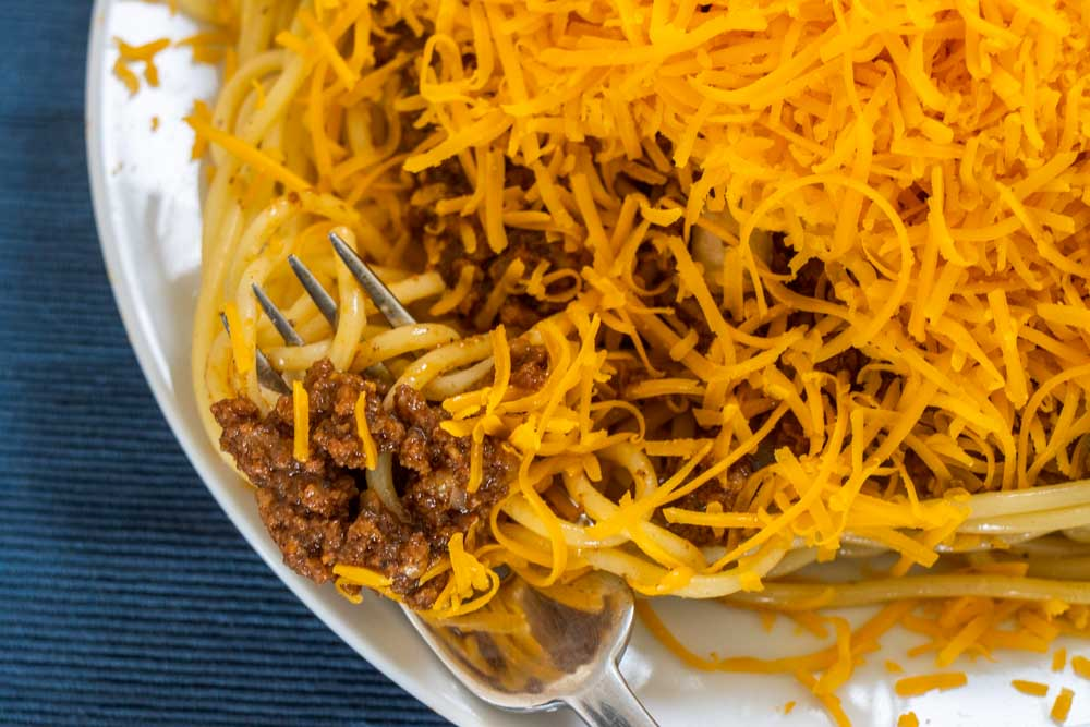 Fork of Cincinnati Chili