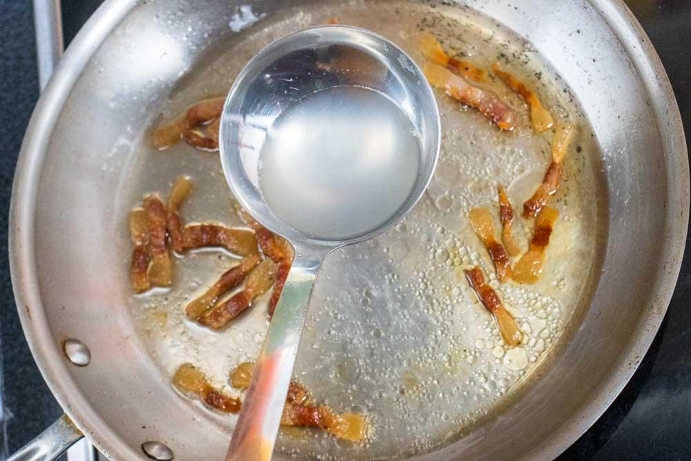 Ladling Water in Pasta Pot