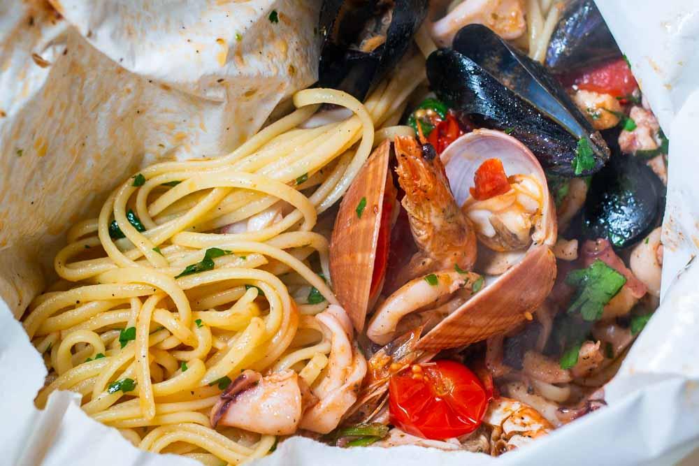 Pasta al Cartoccio at Naples Restaurant