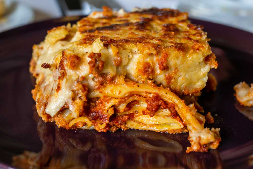 Pastitsio at Meteora Restaurant