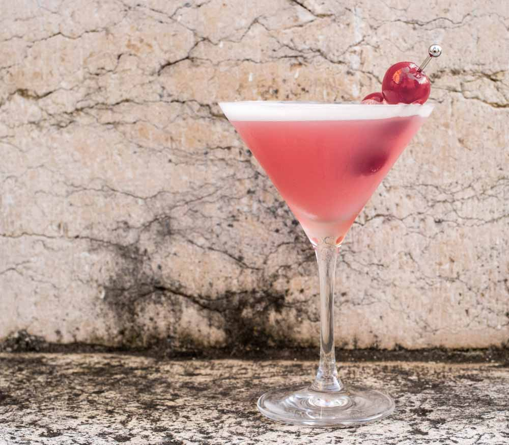 Pink Lady with Cherries