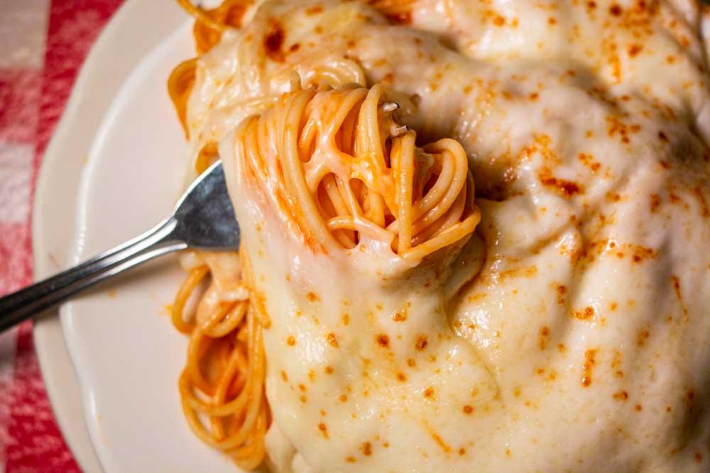 Spaghetti Parmigiana at Buffalo Restaurant