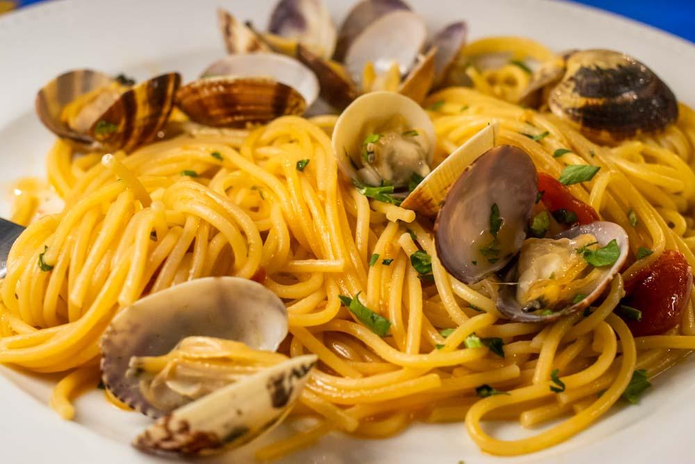 Spaghetti Vongole at Naples Restaurant