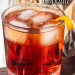 """Pinterest image: Americano cocktail with caption reading """"Americano Cocktail"""""""