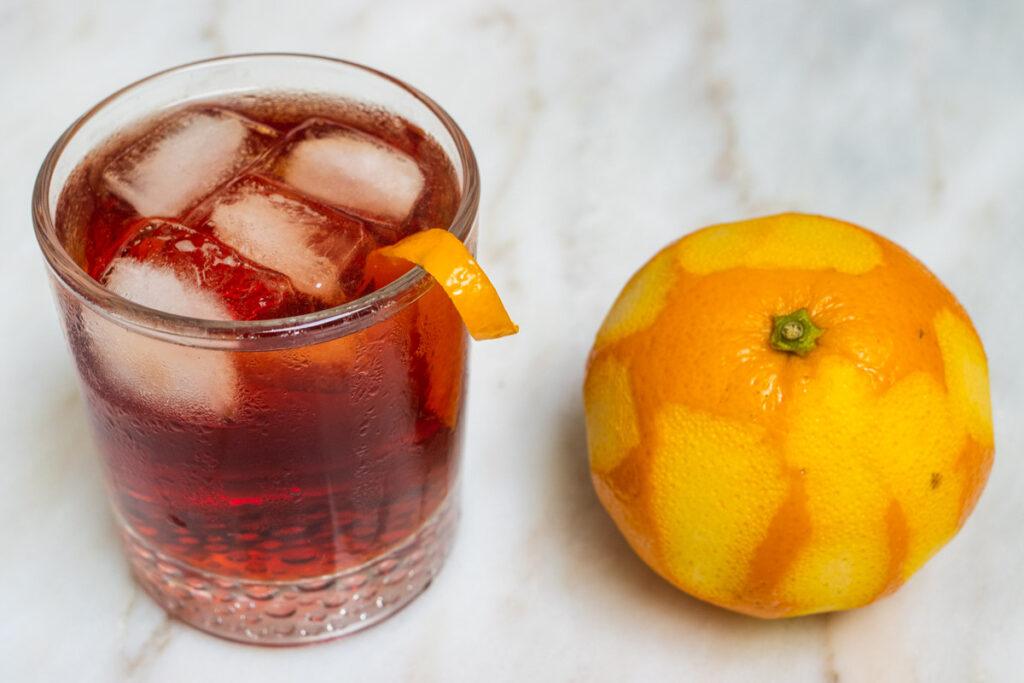 Americano Cocktail and Orange