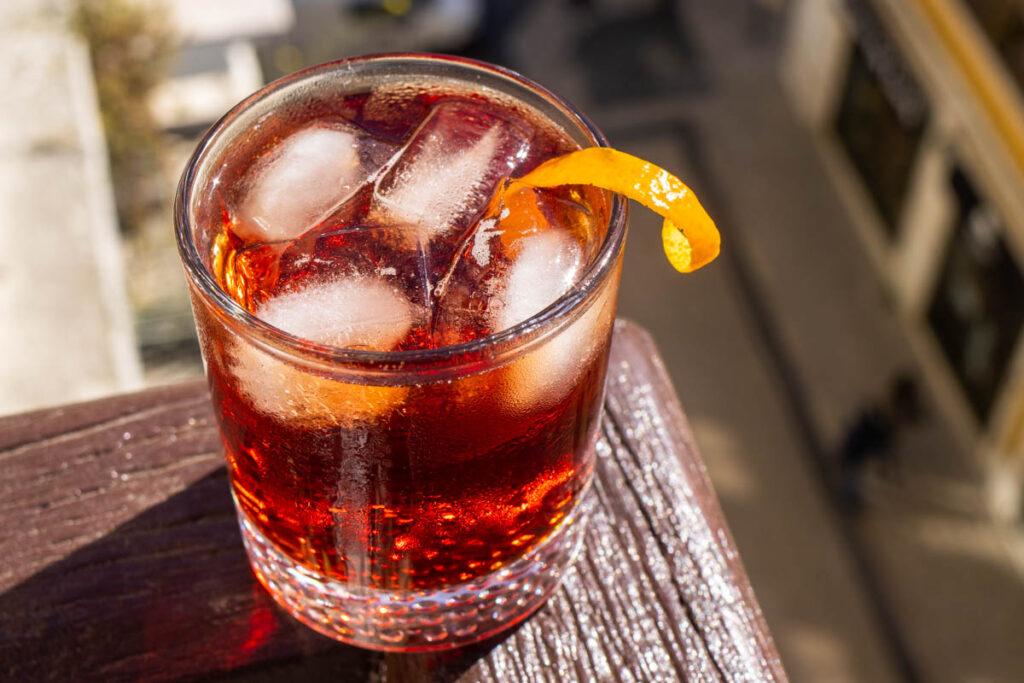 Americano Cocktail on Ledge