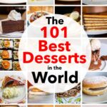 "Pinterest image: 20 desserts with caption reading ""The 101 Best Desserts in the World"""