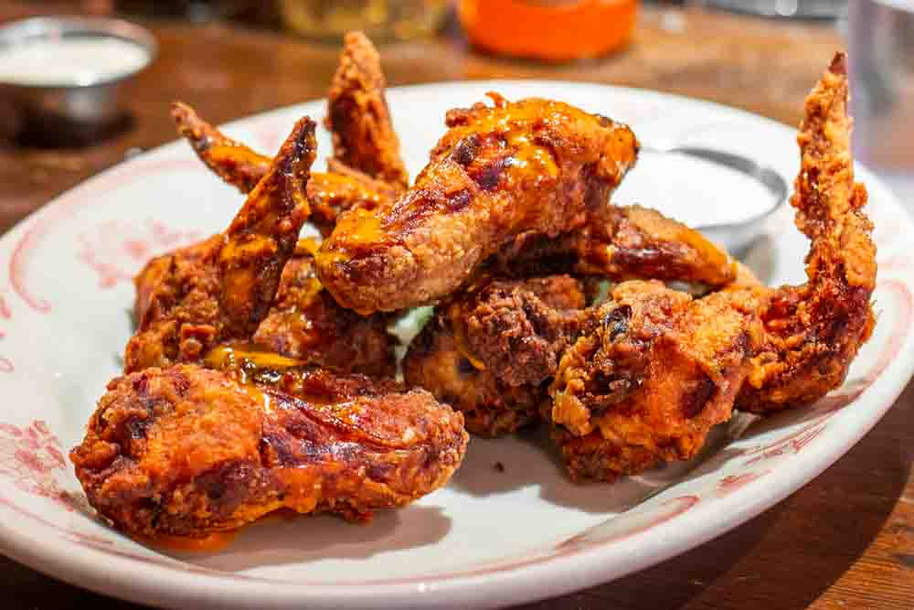 Chicken Wings at Bobwhite Counter