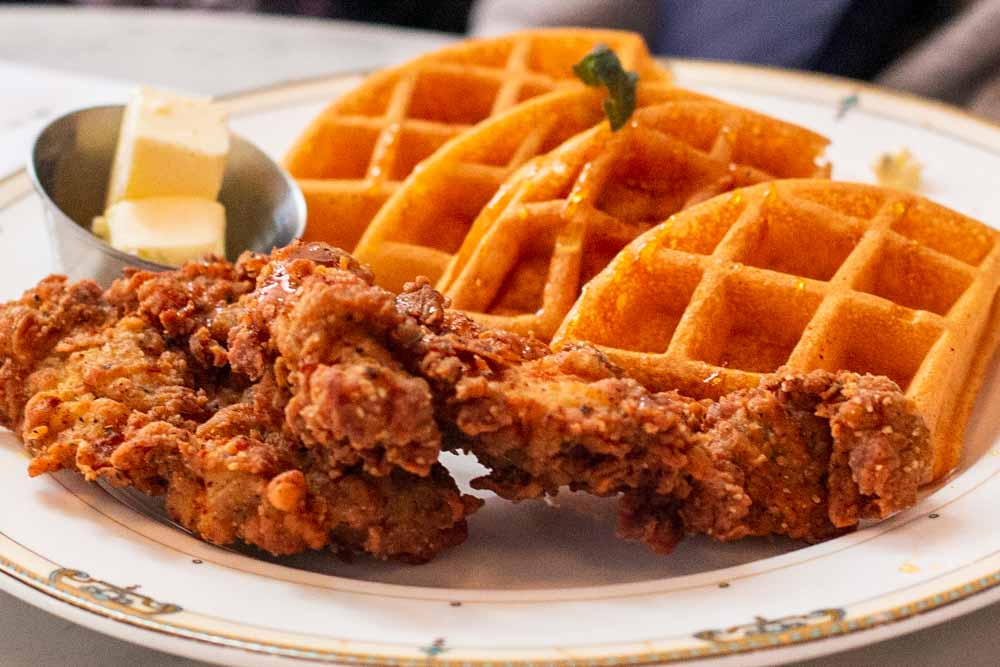 Chicken and Waffles at Village Whiskey in Philadelphia