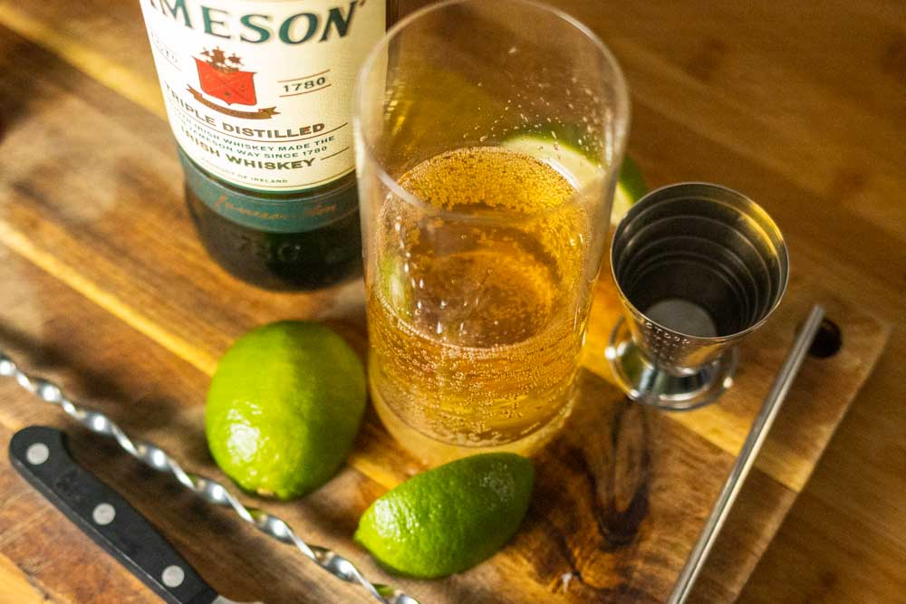 Crafting a Jameson Whiskey Ginger