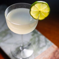 Gin Gimlet on Green Marble