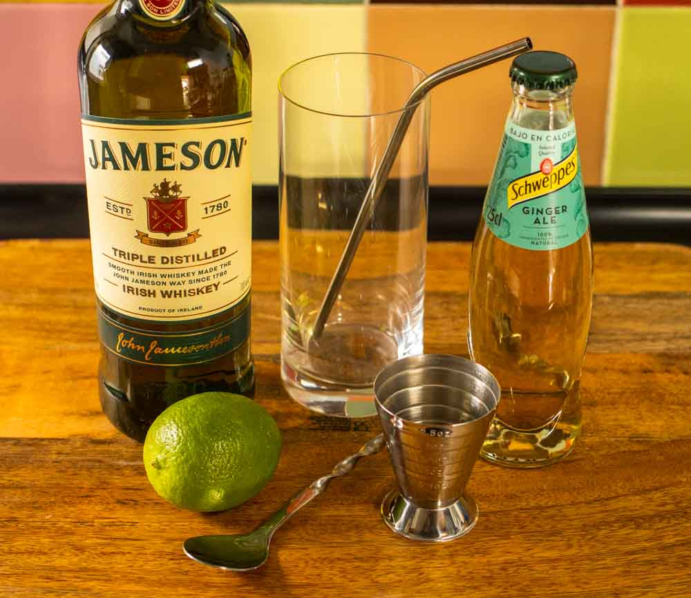 Jameson Whiskey Ginger Ingredients