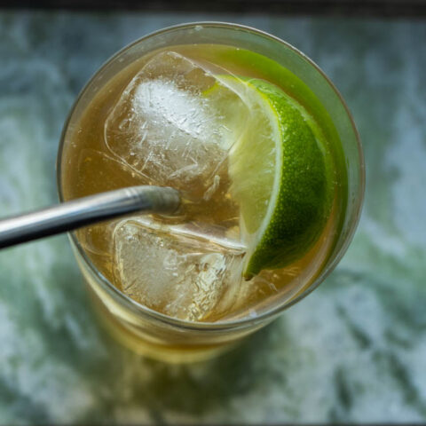 Jameson Whiskey Ginger on Green Marble