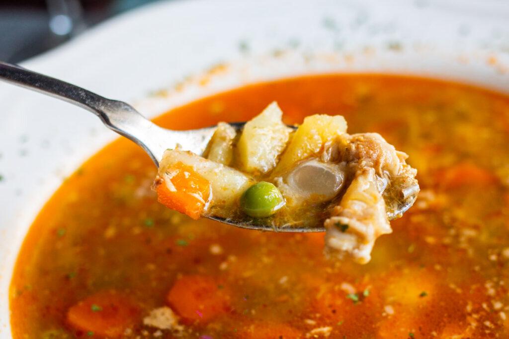 Vegetable Soup at Vjestica in Zagreb