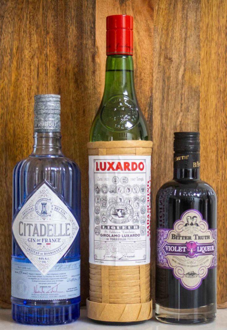 Aviation Cocktail Liquor Bottles