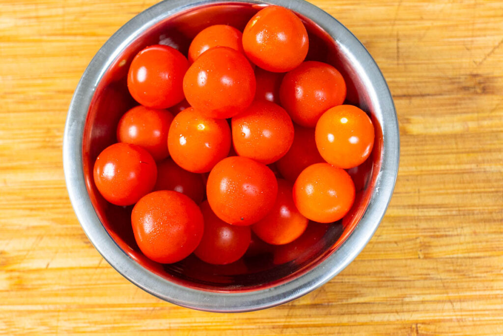 Bowl of Cherry Tomatoes for Nicoise salad