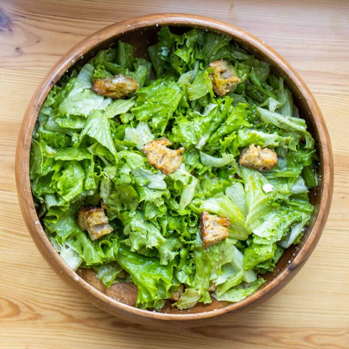 Caesar Salad Overhead Shot