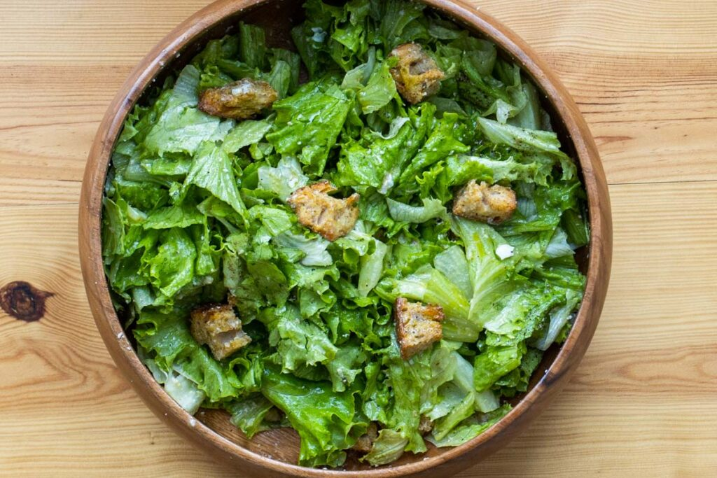 Caesar Salad from Above