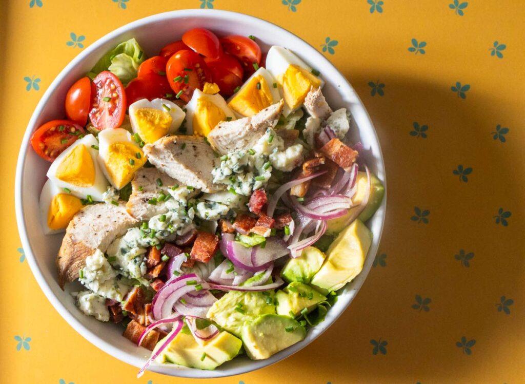 Cobb Salad on Yellow Tray
