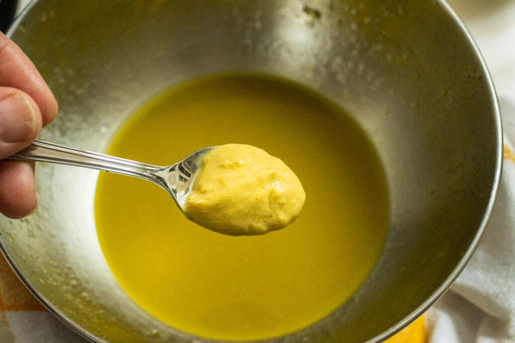 Dijon Mustard on Teaspoon