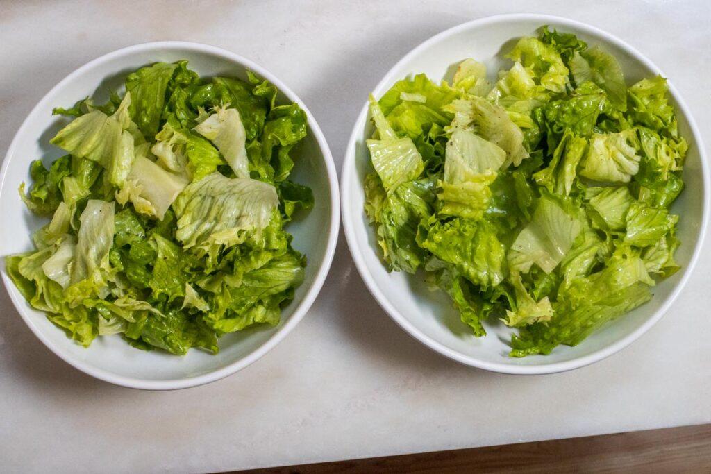 Dressed Lettuce Base for Cobb Salad