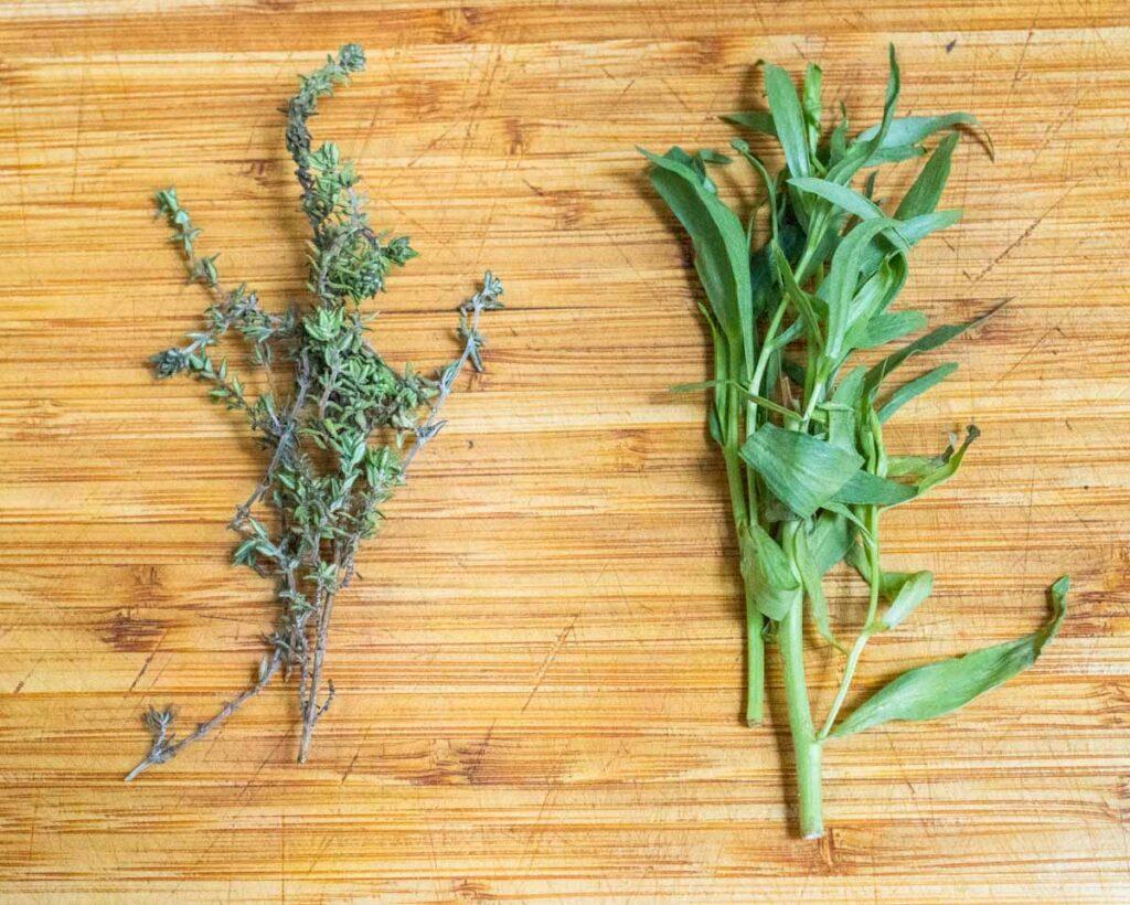 Fresh Thyme and Tarragon