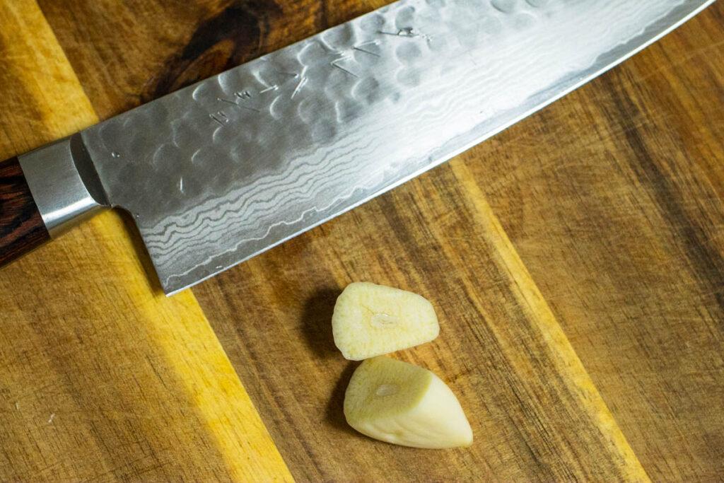 Garlic Clove Cut in Half