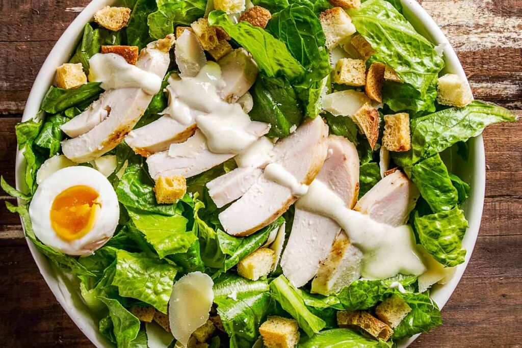 Grilled Chicken Caesar Salad with Gloopy Dressing