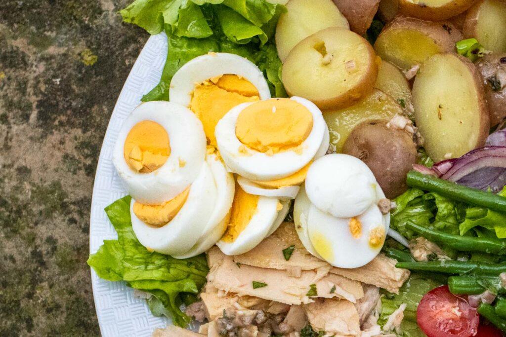 Hard Boiled Eggs for Nicoise Salad