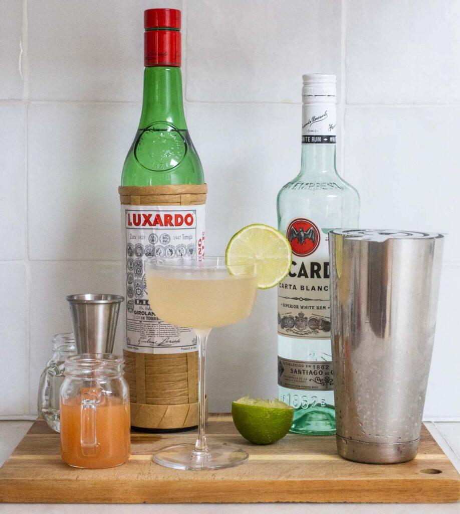 Hemingway Daiquiri Next to Ingredients