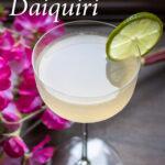 "Pinterest image: hemingway daiquiri with caption reading ""How to Craft a Hemingway Daiquiri"""