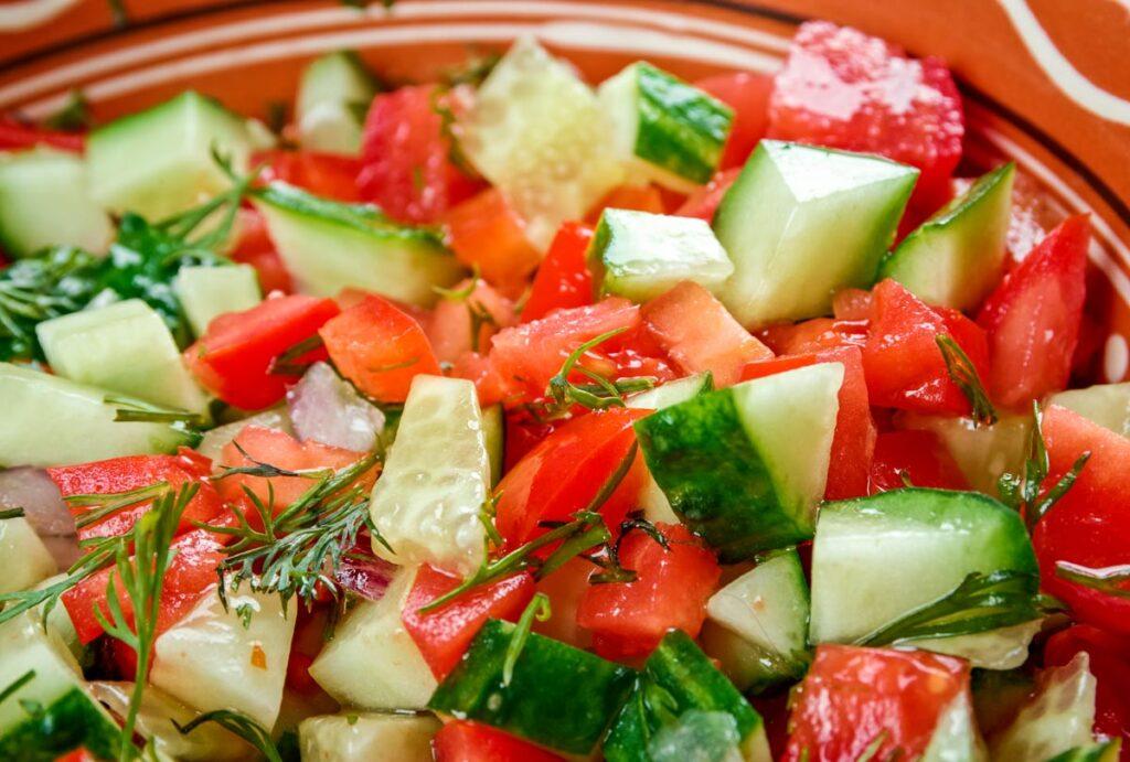 Israeli Salad Stock Photo