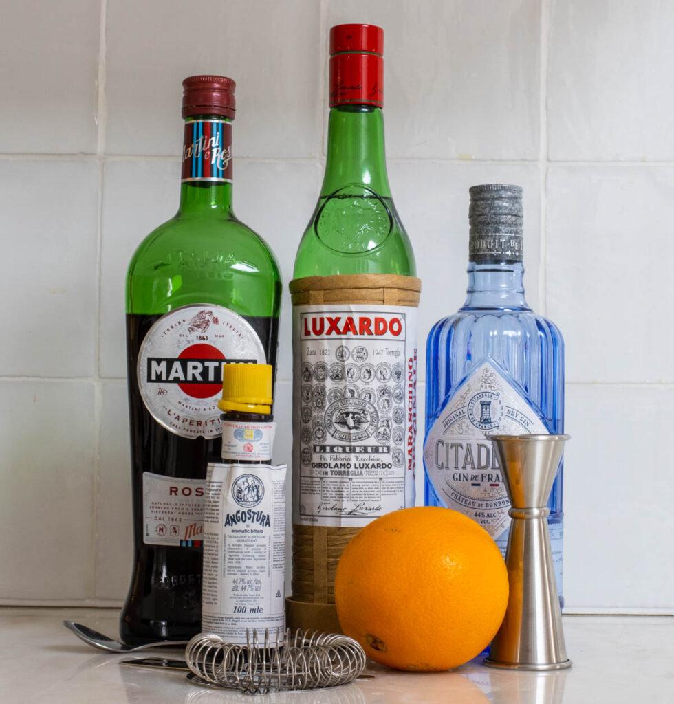 Martinez Cocktail Ingredients