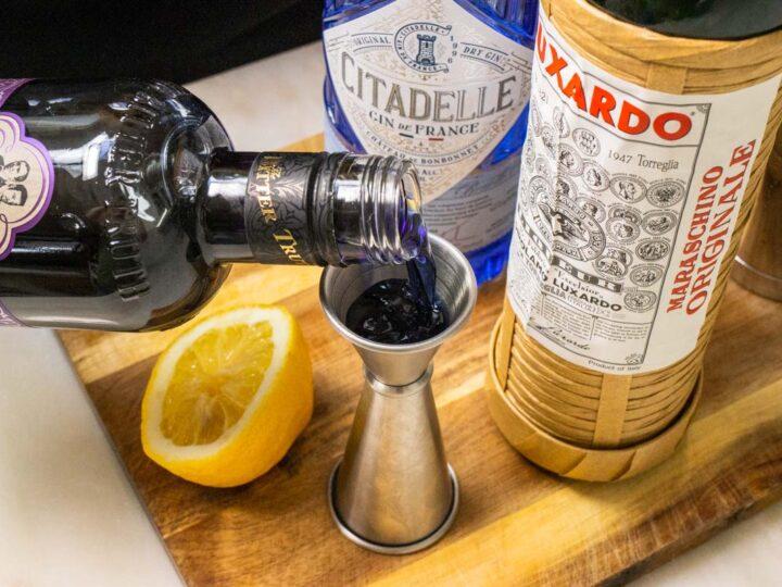 Measuring Creme de Violette for Aviation Cocktail