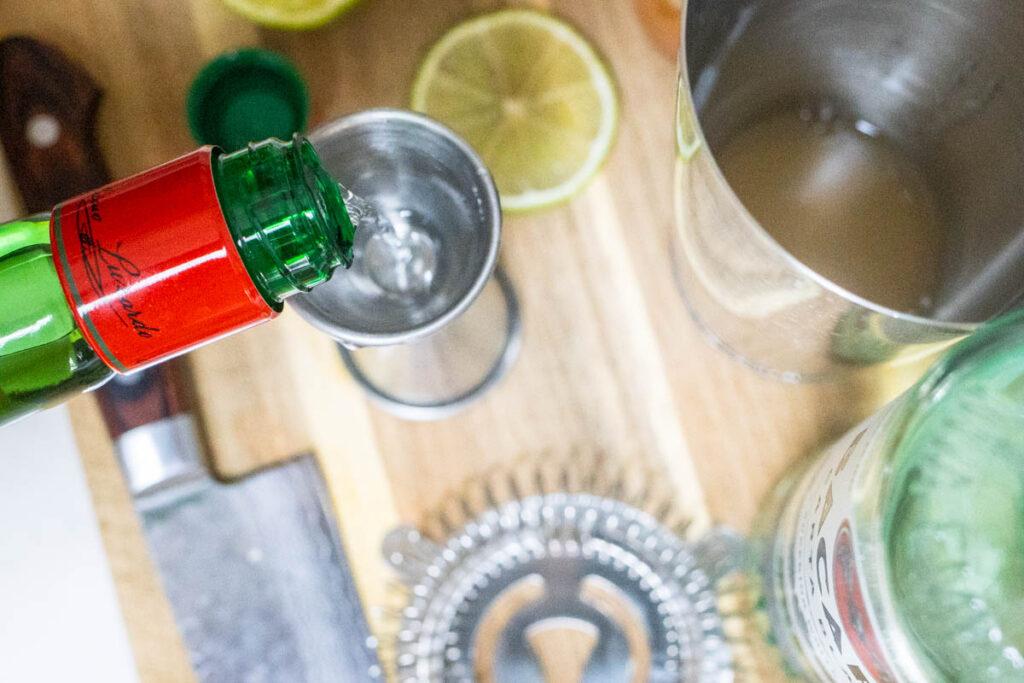 Measuring Luxardo Liqueur