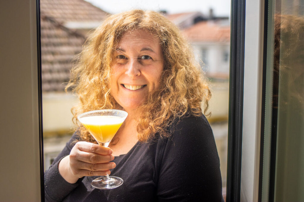 Mindi with Orange Creamsicle Cocktail