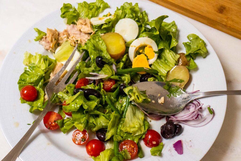 Mixed up Nicoise Salad