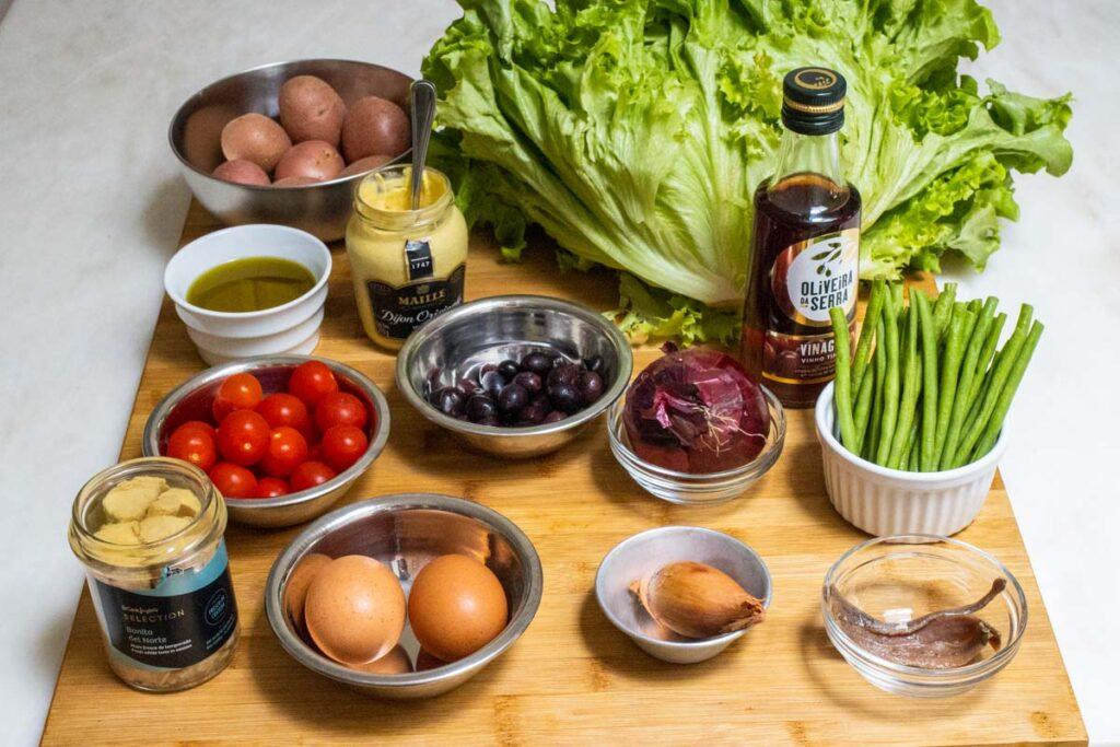 Nicoise Salad Mis en Place