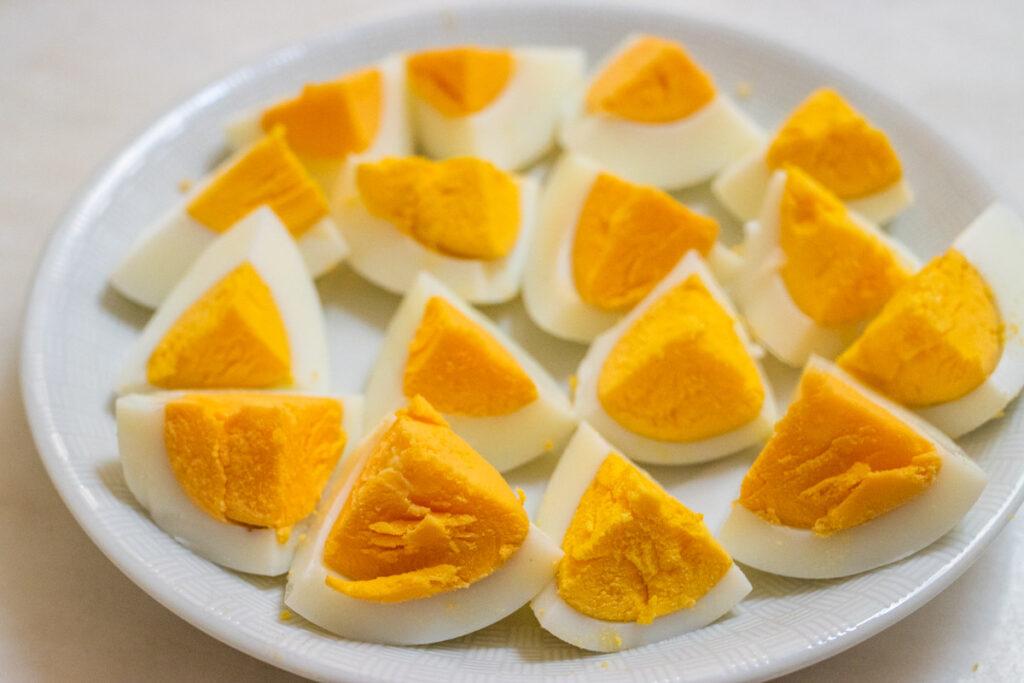 Quartered Hard Boiled Eggs