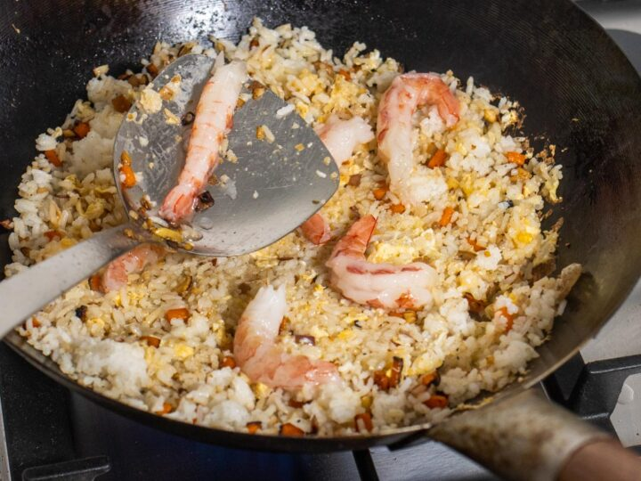 Adding Shrimp to Yangzhou Rice