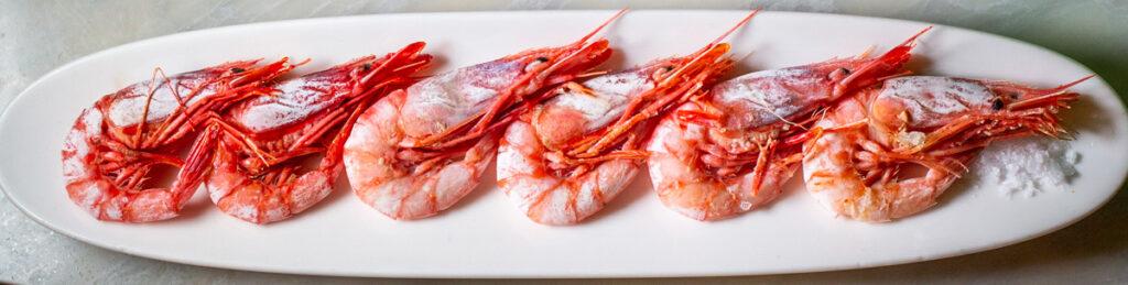 Shrimp Starter at Bodega in Barcelona