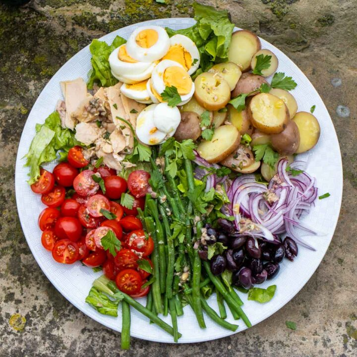 Top View of Salade Nicoise